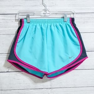 NWOT Nike Tempo Dri-Fit Shorts (Aqua and Pink)
